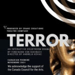 Casting Call – Crane Creations Theatre Company – Terror | Auditions open September 15-17